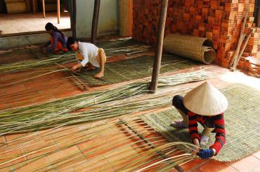 Làng nghề đan Mê bồ ở TP.Cao Lãnh, Đồng Tháp